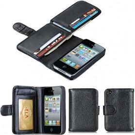 Multiplånbok 7 kort iPhone 4 4S