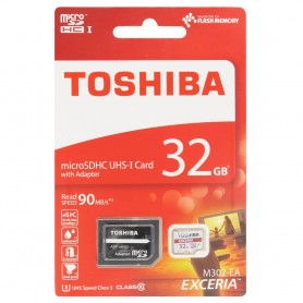Toshiba 32Gb Micro SD med adapter Klass 10