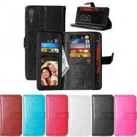 Dubbelflip Flexi 9-kort Sony Xperia XZ XZs mobilplånbok caseonline