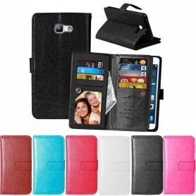 Mobilplånbok Dubbelflip Flexi Galaxy A3 2016 mobil skydd fodral skal