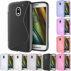 S Line silikon skal Motorola Moto E3 (3rd Gen) mobil skydd tpu