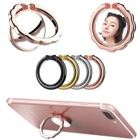 Multifunktion spegel metal Mobilhållare, Fingerring, Selfiering