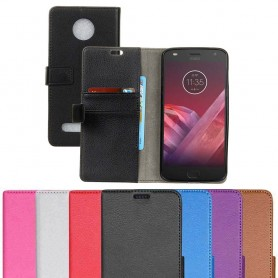 Mobilplånbok 2-kort Motorola Moto Z2 Play mobilskal fodral skydd caseonline