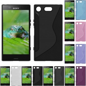 S Line silikon skal Sony Xperia XZ1 Compact G8341 mobilskal