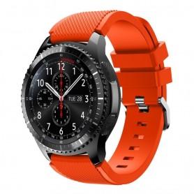 Silikon Sport Armband Samsung Gear S3 Frontier - S3 Classic (Svart)