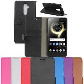 Mobilplånbok 2-kort silikon ram Lenovo K8 Note mobilskal fodral väska