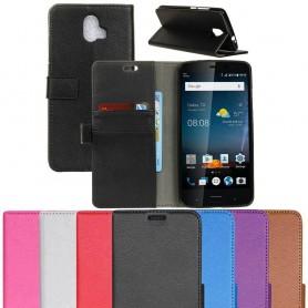 Mobilplånbok 2-kort silikon ram ZTE Blade V8 Pro mobilskal fodral väska