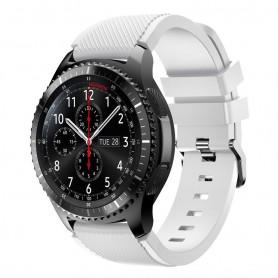 Silikon Sport Armband Samsung Gear S3 Frontier - S3 Classic (vit)