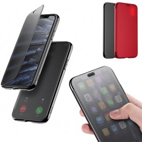 Baseus Touchable Case Apple iPhone X mobilskal flipcover sview