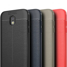 Läder mönstrat TPU skal Samsung Galaxy J3 2017 SM-J330F mobilskal caseonline