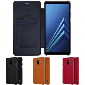 Nillkin Qin FlipCover Samsung Galaxy A8 Plus 2018 mobilskal