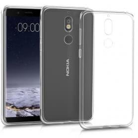 Nokia 7 Silikon skal Transparent mobilskal