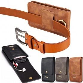 """Universal Mobilväska DG Ming 6.5"""" bältesväska fodral mobilskal skinn läder caseonline"""