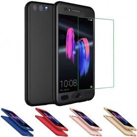 360 mobilskal med härdat skärmglas Huawei Honor 9 STF-L09 displayskydd heltäckande mobilskydd
