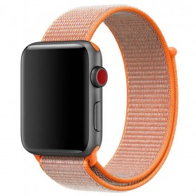 Apple Watch 38mm Nylon Armband med kardborre Spicy Orange klockarmband