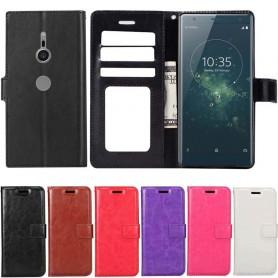 Mobilplånbok 3-kort Sony Xperia XZ2 mobilskal fodral vaska