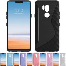 S Line silikon skal LG G7 ThinQ mobilskal skydd caseonline.se