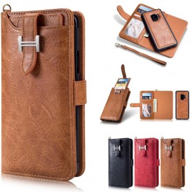 Multiplånbok 3i1 9-kort Samsung Galaxy S9 mobilskal läder