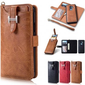 Multiplånbok 3i1 9-kort Samsung Galaxy S9 Plus mobilskal fodral väska