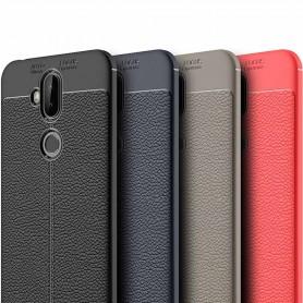 Läder mönstrat TPU skal Asus Zenfone 5 Lite zc600kl mobilskal