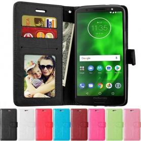 Mobilplånbok 3-kort Motorola Moto G6 mobilskal fodral skydd
