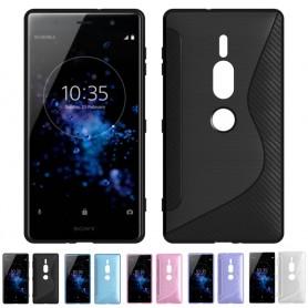 S Line silikon skal Sony Xperia XZ2 Premium mobilskal silikon