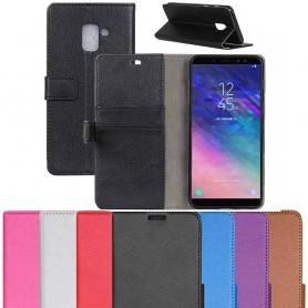 Mobilplånbok 2-kort Samsung Galaxy A6 Plus 2018 SM-A605 mobilskal