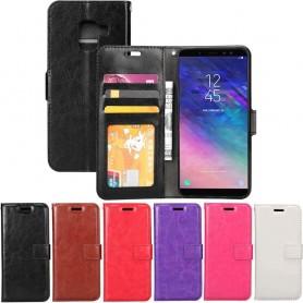 Mobilplånbok 3-kort Samsung Galaxy A6 Plus 2018 mobilskal fodral skydd
