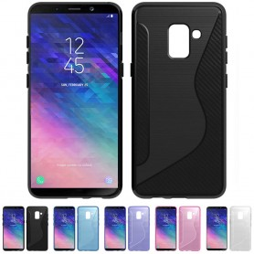 S Line silikon skal Samsung Galaxy A6 Plus 2018 mobilskal skydd caseonline