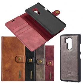 Mobilplånbok Magnetisk DG Ming LG G7 ThinQ 3.kort mobilskal fodral