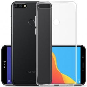 Huawei Y6 2018 Silikon skal Transparent mobilskal skydd tpu