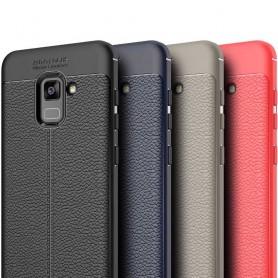 Läder mönstrat TPU skal Samsung Galaxy A6 2018 mobilskal skydd CaseOnline