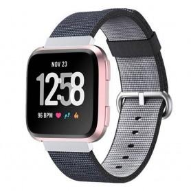 Nylon Armband till Fitbit Versa - Svart
