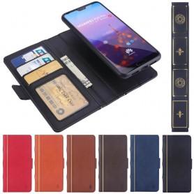 Retro Book Wallet 2i1 Huawei P20 Pro mobilskal mobilplånbok fodral magnetisk