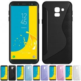 S Line silikon skal Samsung Galaxy J6 2018 mobilskal