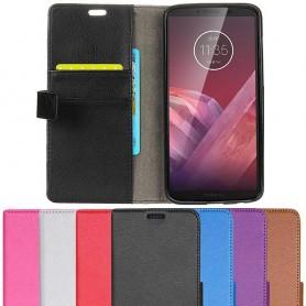 Mobilplånbok 2-kort Motorola Moto Z3 Play mobilskal fodral