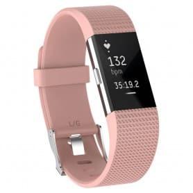 Sport Armband till Fitbit Charge 2 - Ljusrosa