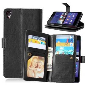 Dubbelflip Flexi 9-kort Sony Xperia Z2 D6502 mobilskal fodral