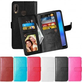Dubbelflip Flexi 9-kort Huawei P20 Lite mobilskal plånbok fodral