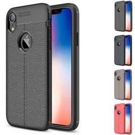"""Läder mönstrat TPU mobilskal Apple iPhone XR (6.1"""")"""
