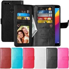 Dubbelflip Flexi 9-kort Huawei Y6 2018 mobilskal fodral plånbok
