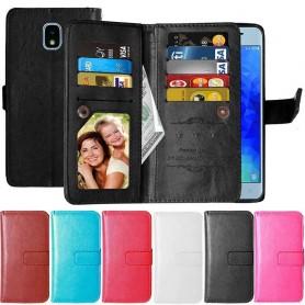Dubbelflip Flexi 9-kort Samsung Galaxy J7 2018 mobilskal fodral skydd