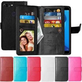 Dubbelflip Flexi 9-kort Asus Zenfone Max Plus ZB570TL mobilskal skydd fodral