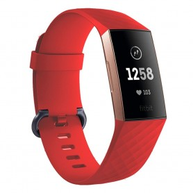 Sport Armband till Fitbit Charge 3 - Röd
