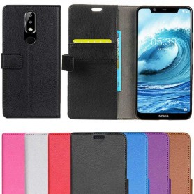 Mobilplånbok 2-kort Nokia 5.1 Plus fodral mobilskal case