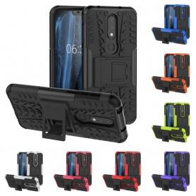 Stöttåligt skal med ställ Nokia 6.1 Plus mobilskal silikonskal skydd caseonline