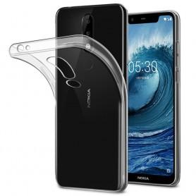 Nokia 5.1 Plus Silikon skal Transparent mobilskal
