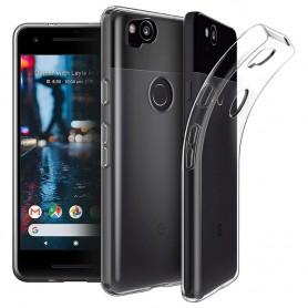 Google Pixel 2 Silikon skal Transparent mobilskal skydd caseonline