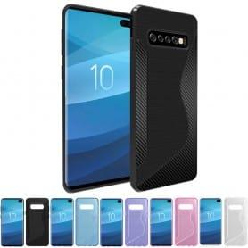 S Line silikon skal Samsung Galaxy S10 Plus (SM-G975F) mobilskal skydd caseonline