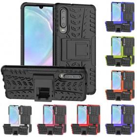 Stöttåligt skal med ställ Huawei P30 mobilskal skydd silikonskal caseonline